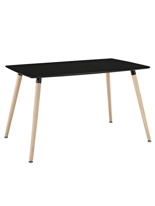 Black Ombre Wood Rectangle Dining Table