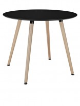 Black Ombre Wood Round Table 156x207