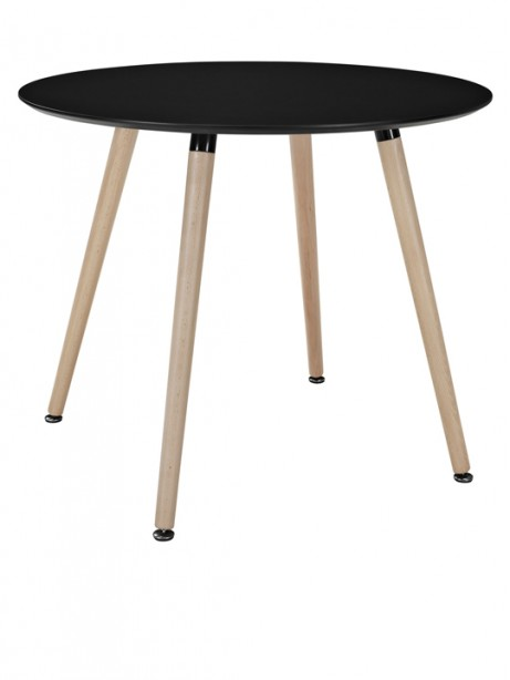 Black Ombre Wood Round Table 461x614