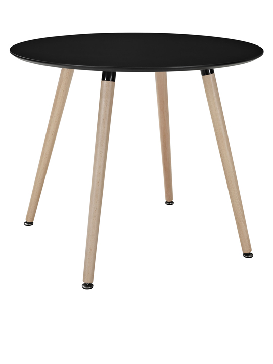 Black Ombre Wood Round Table