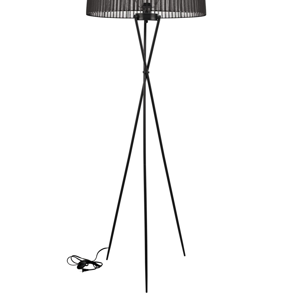 Black Silk Floor Lamp 3