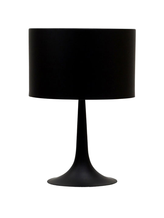 Black Top Table Lamp