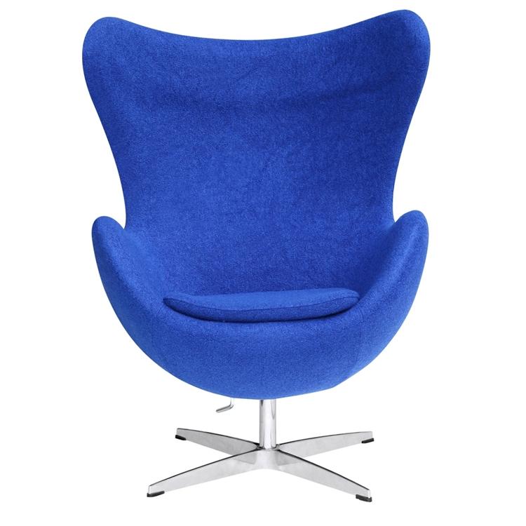 Blue Magnum Wool Chair