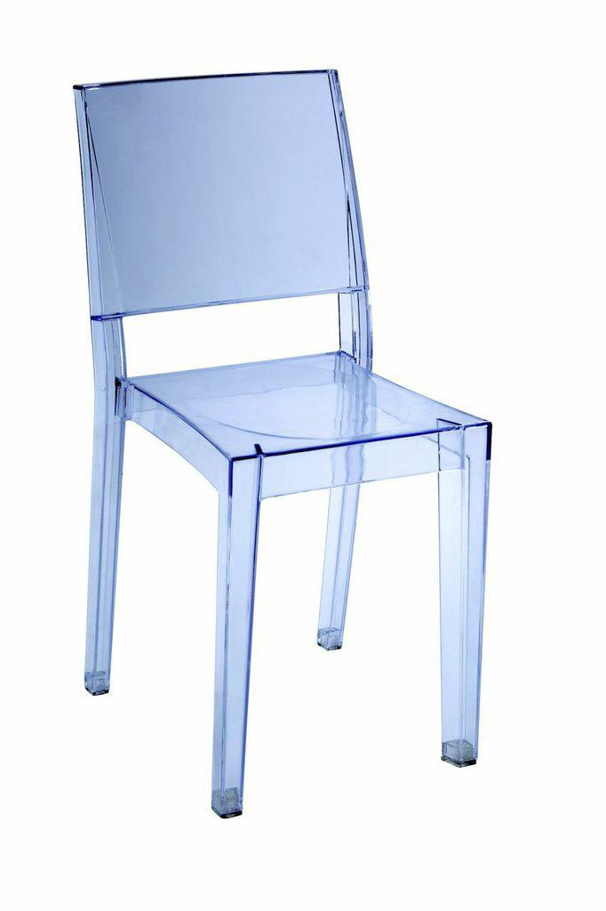 Blue Transparent Square Chair