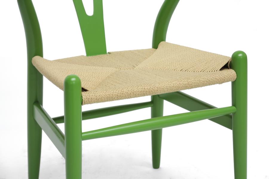 Bright Green Hemp Chair 3