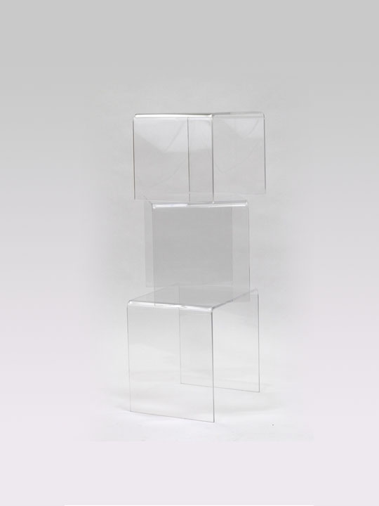 Clear 3 Ice Accent Tables