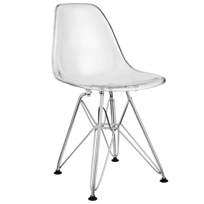 Charmant Clear Kids Wire Base Chair E1442566265238