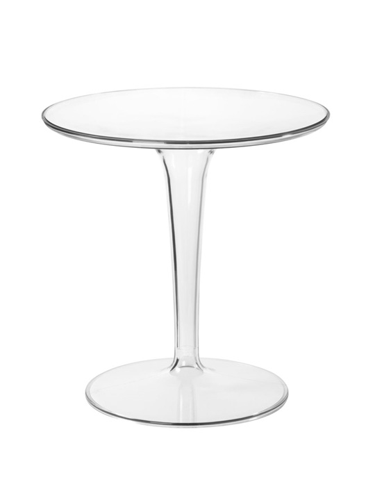Clear Tulip Side Table
