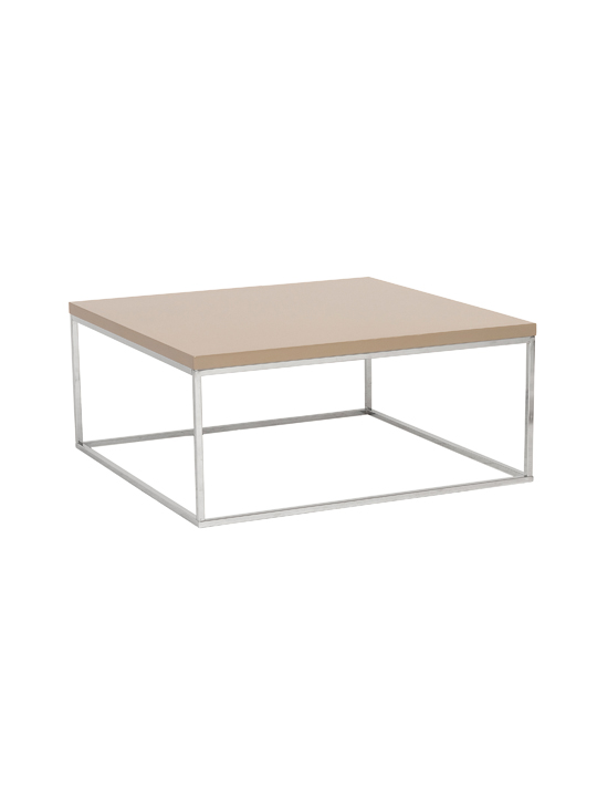 Float Square Coffee Table Tan 2