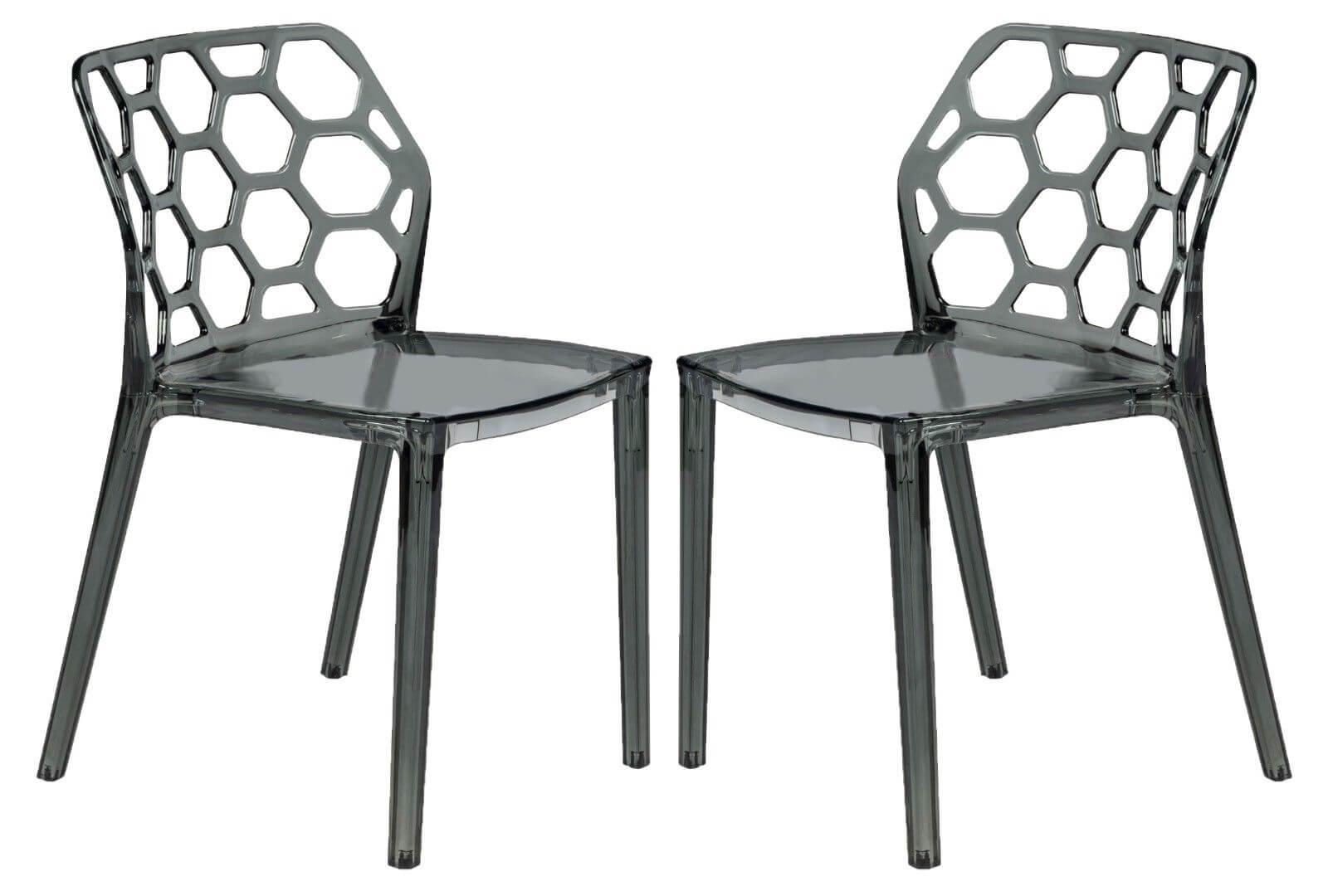 Geometric chair black transparent 3