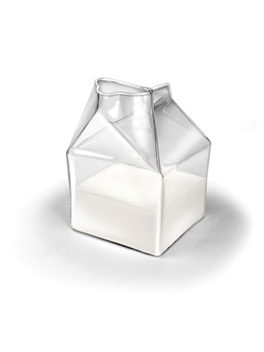 Glass Milk Carton Modern Furniture Brickell Collection