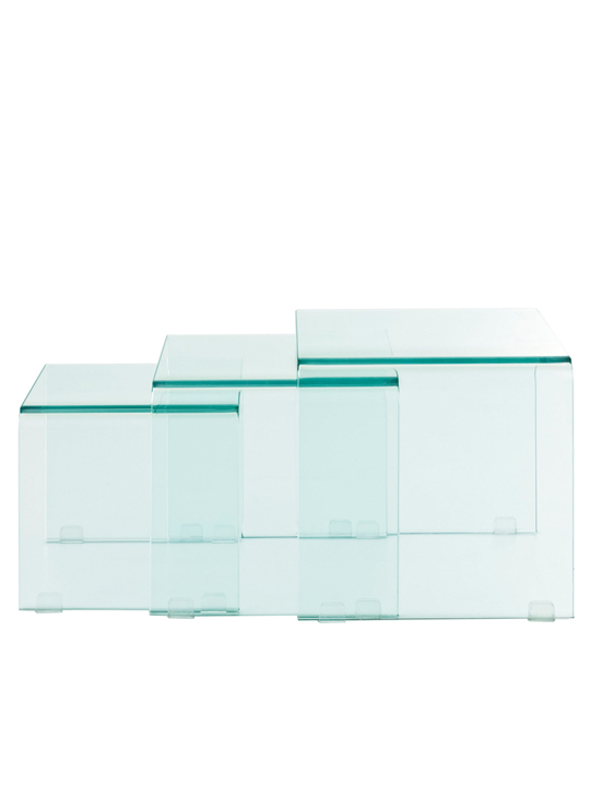 Glass Nesting Table Set