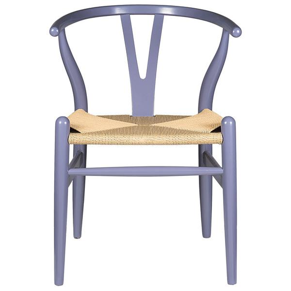 Gray Hemp Y Wishbone Chair
