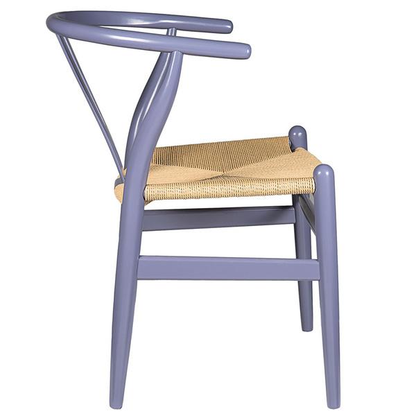 Gray Hemp Y Wishbone Chair 3