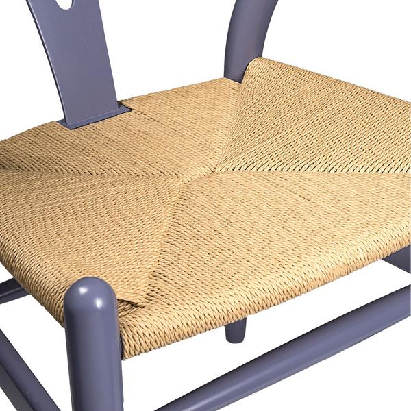 Gray Hemp Y Wishbone Chair 4