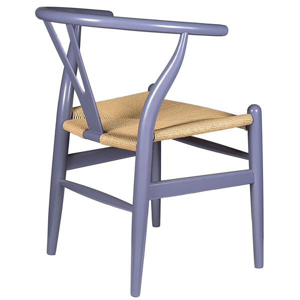 Gray Hemp Y Wishbone Chair 5