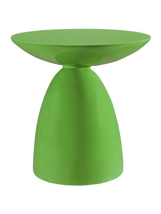 Green Pebble Side Table