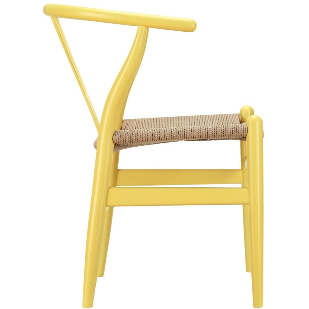 Hemp Wishbone Chair Yellow 21