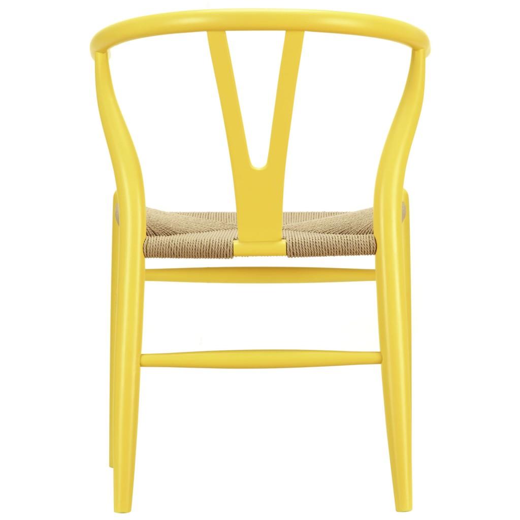 Hemp Wishbone Chair Yellow 31