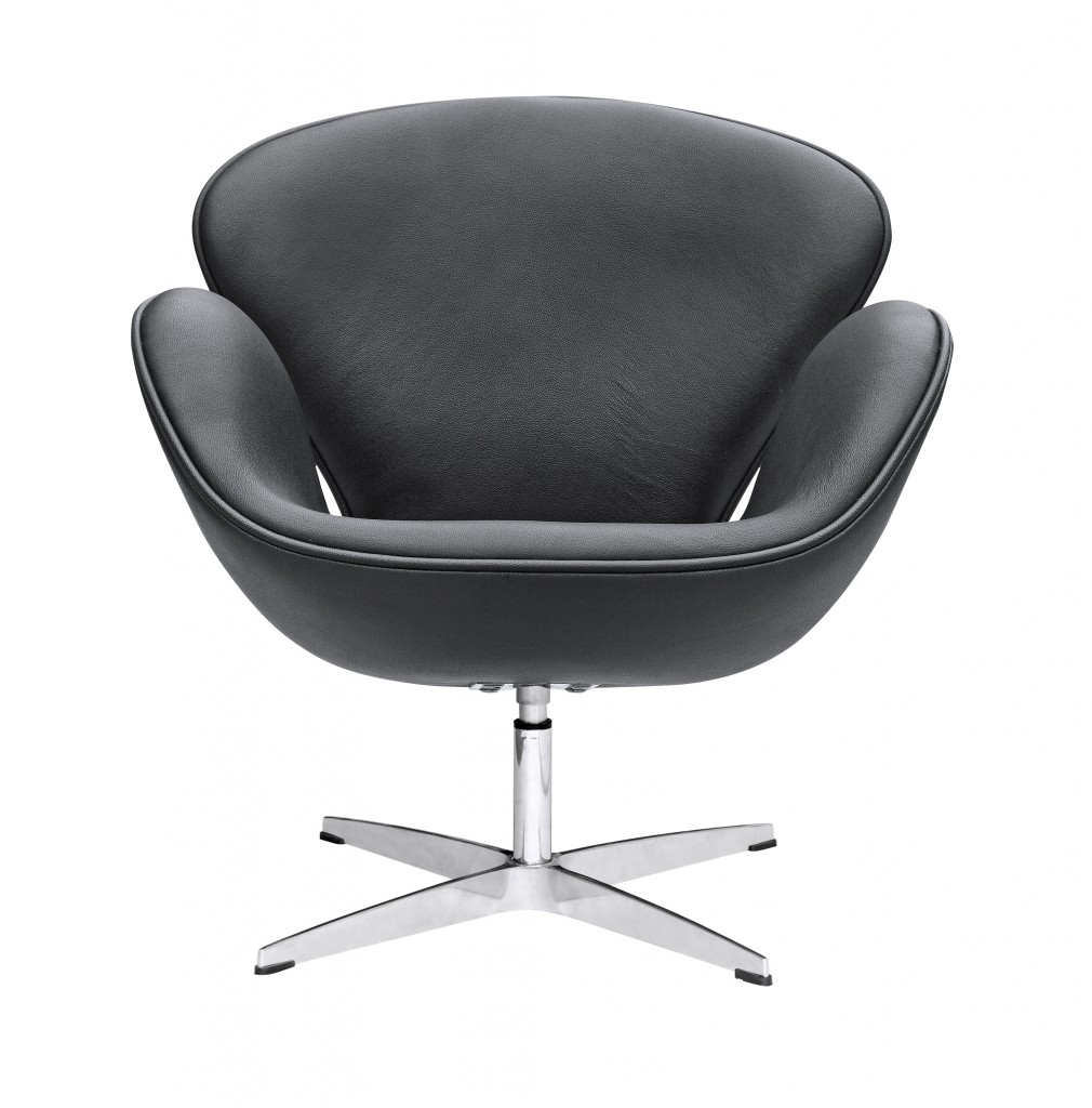 Hug Leather Chair Black 4
