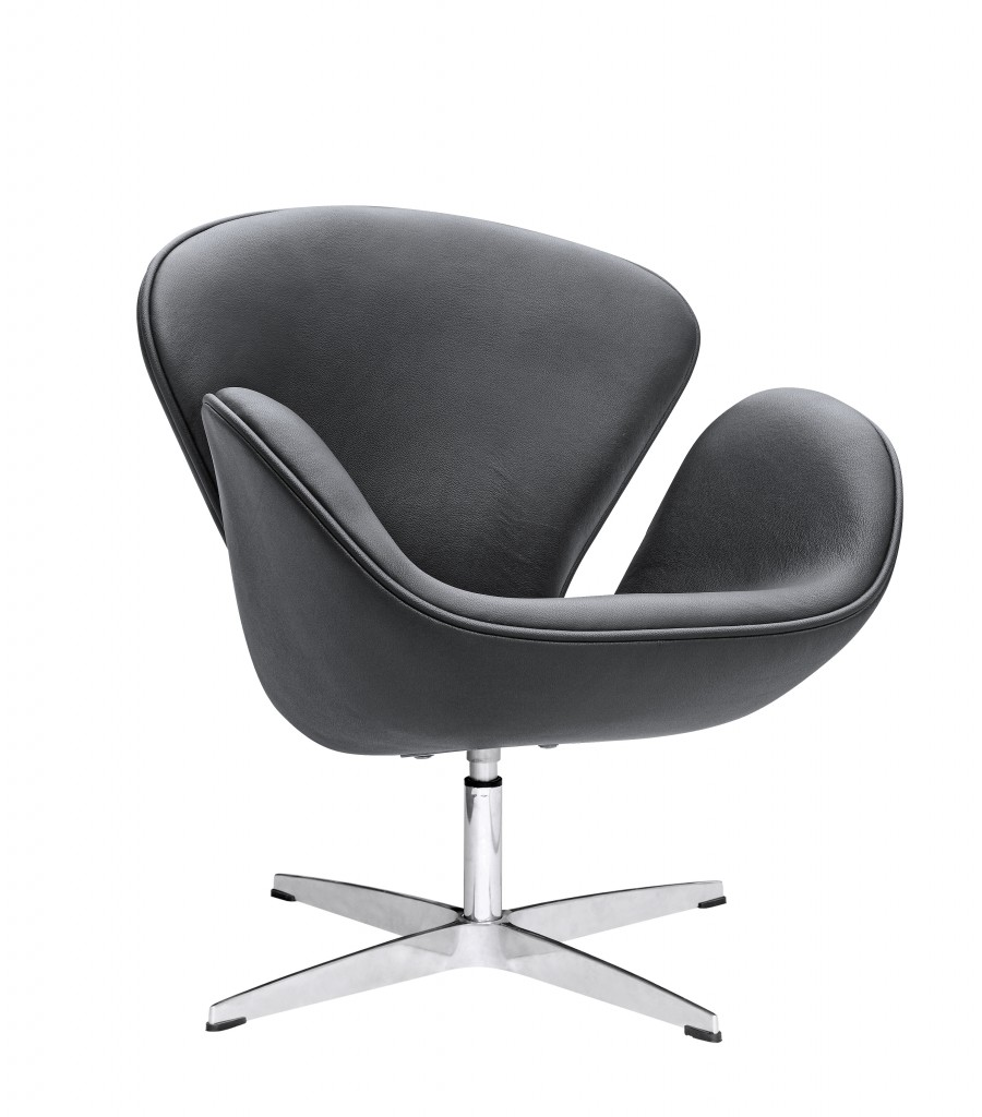 Hug Leather Chair Black 5
