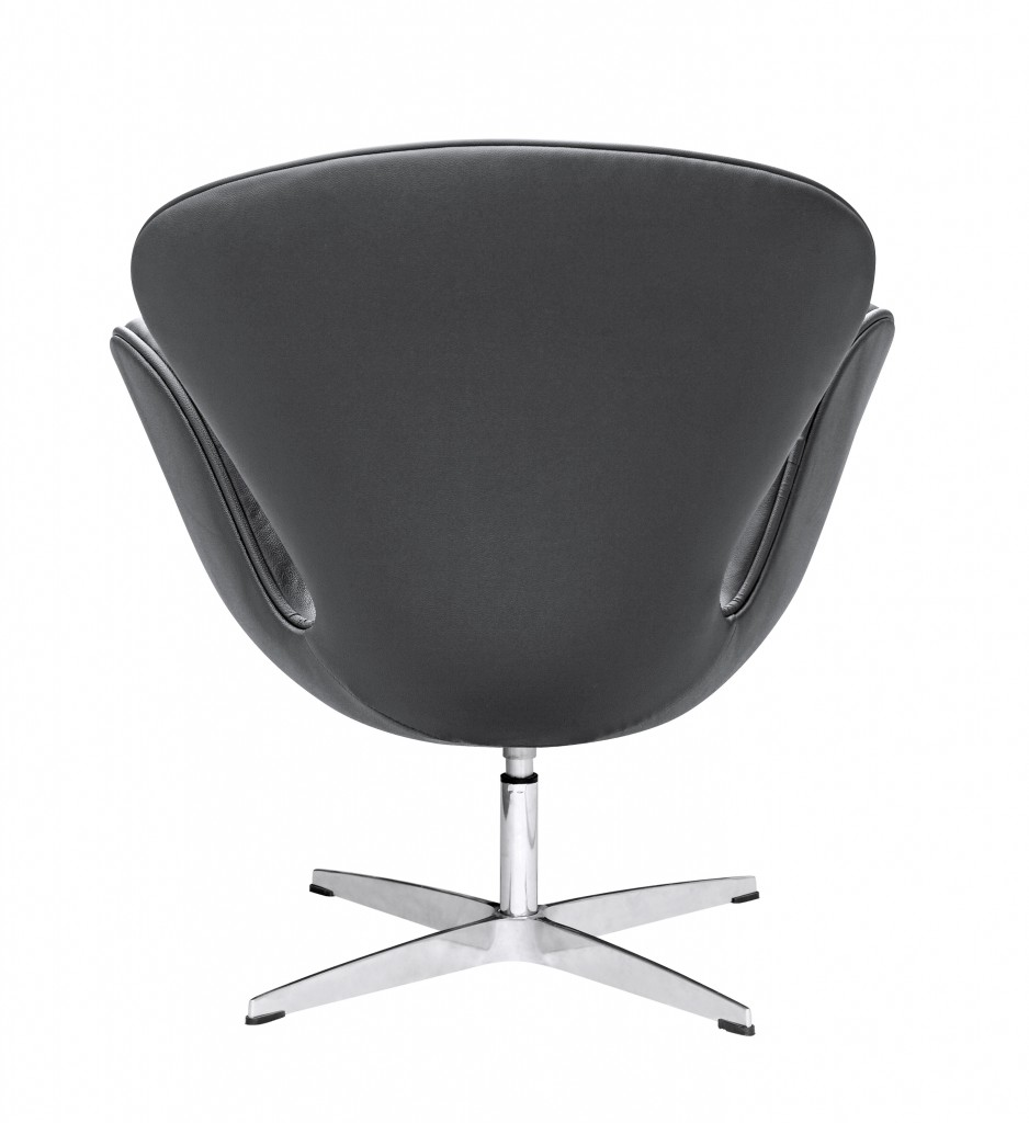 Hug Leather Chair Black