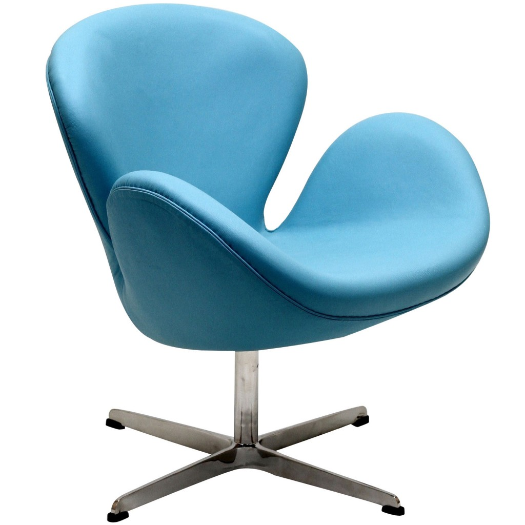 Hug Leather Chair Light Blue 3