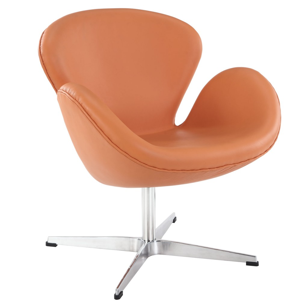 Hug Leather Chair Light Orange 3
