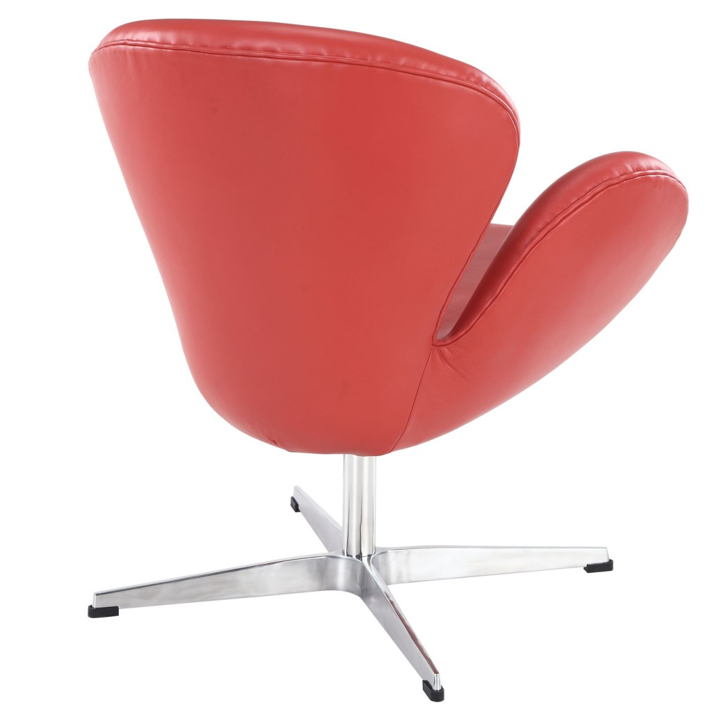 Hug Leather Chair Light Red 2