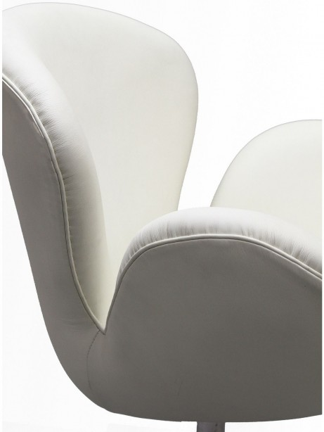 Hug Leather Chair Light White 461x614
