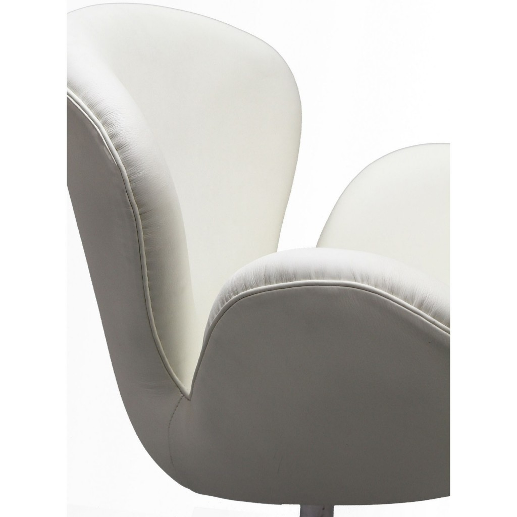 Hug Leather Chair Light White