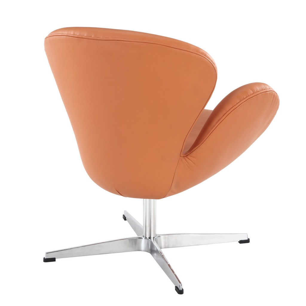 Hug Leather Chair Orange
