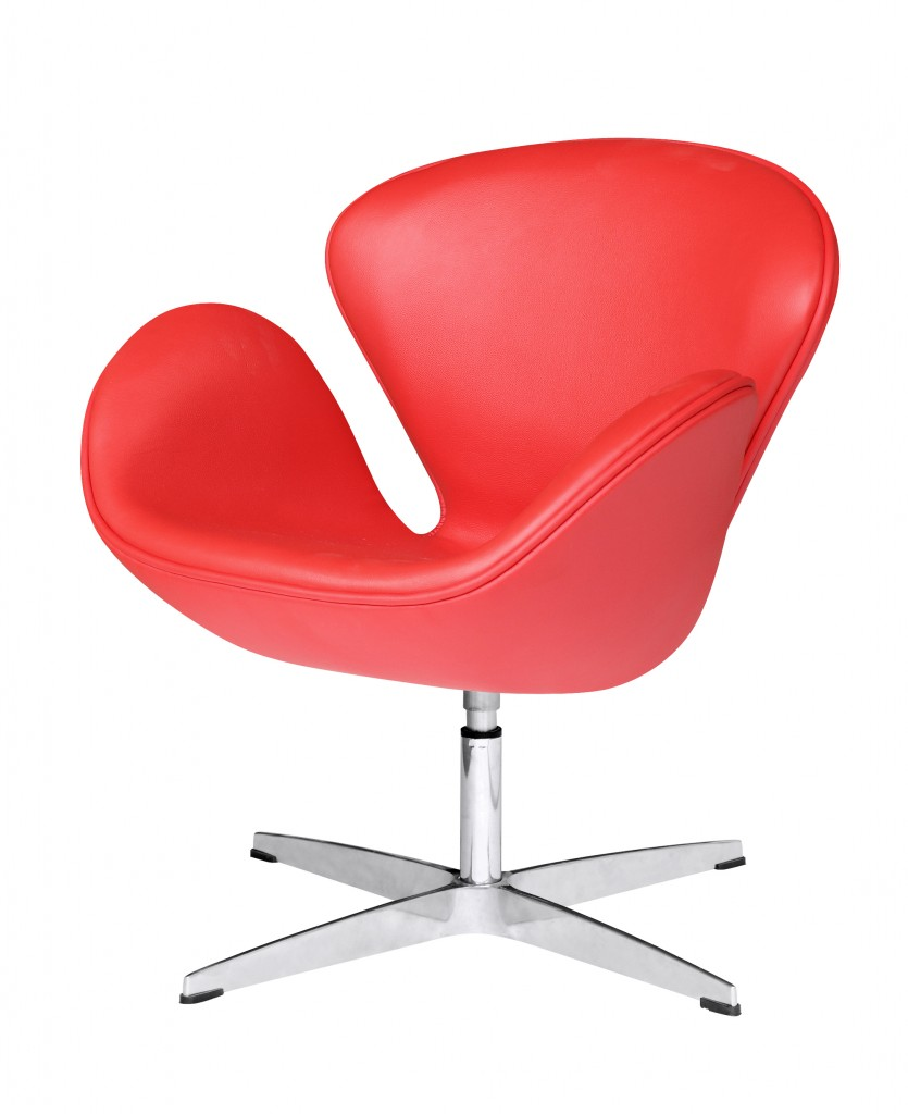 Hug Leather Chair Red 2