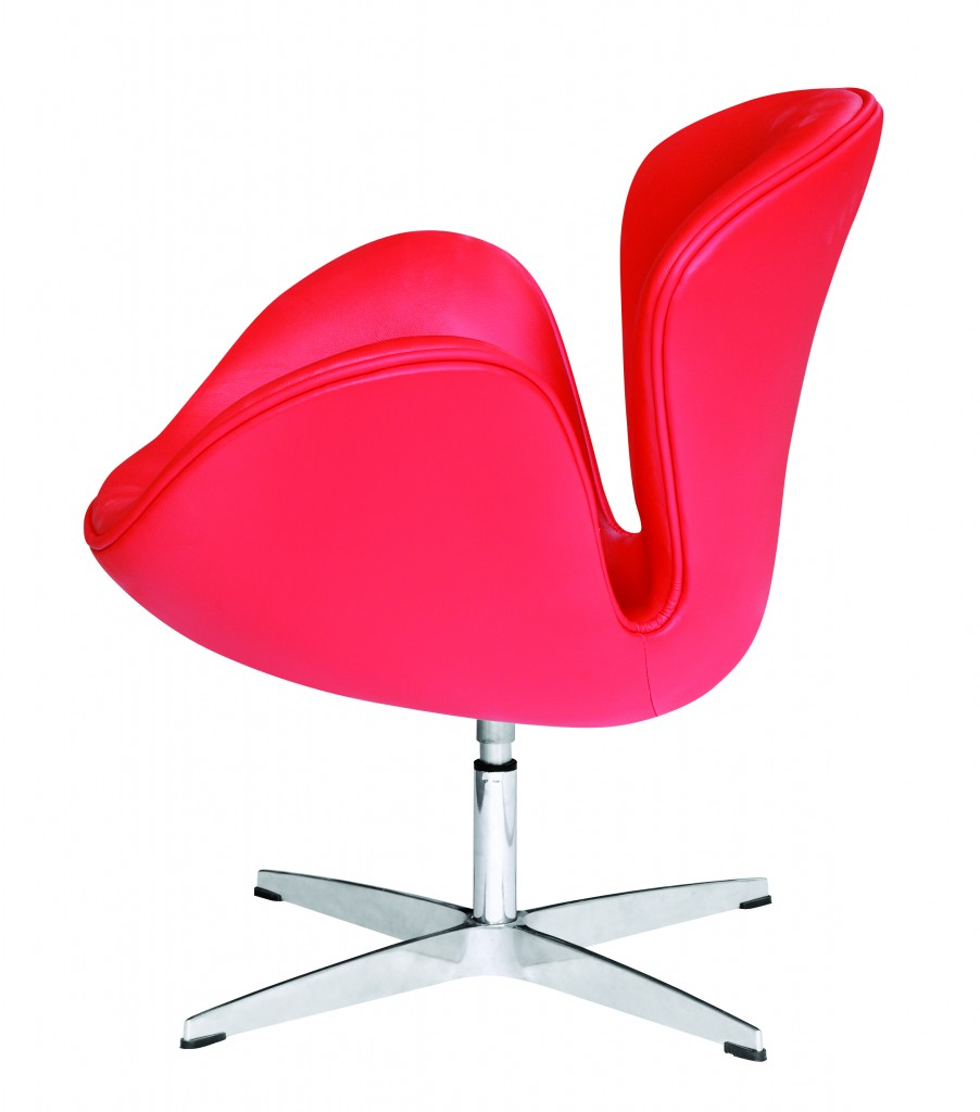 Hug Leather Chair Red 4