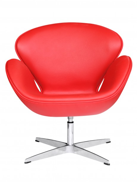 Hug Leather Chair Red 461x614