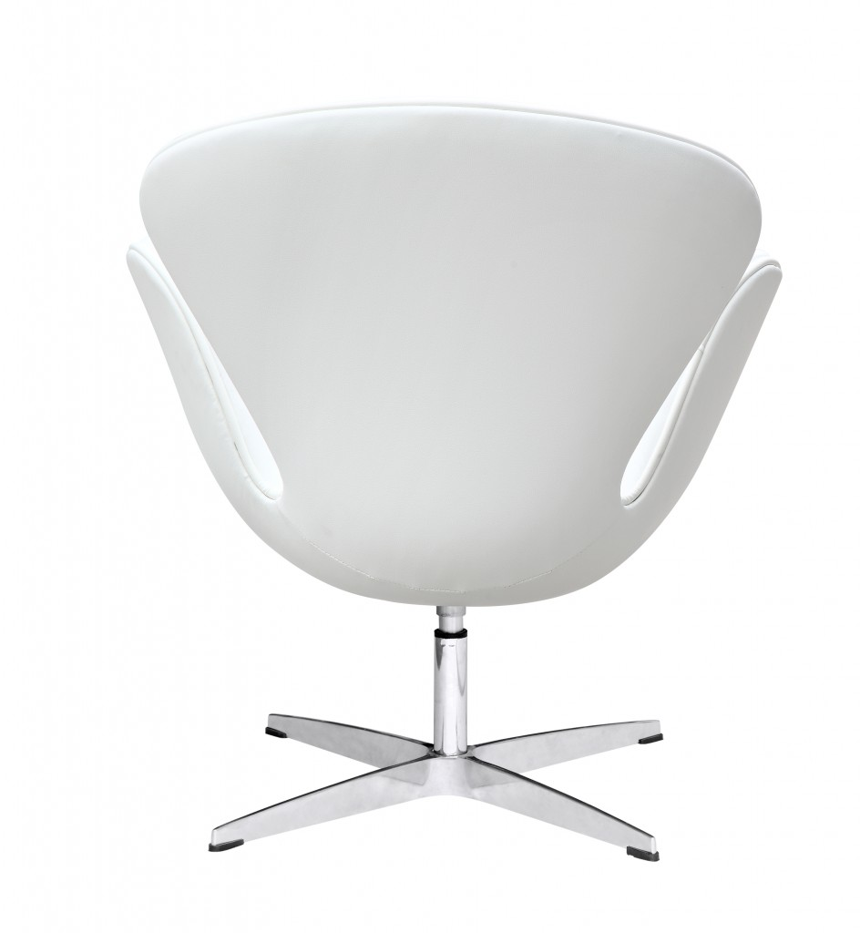 Hug Leather Chair White