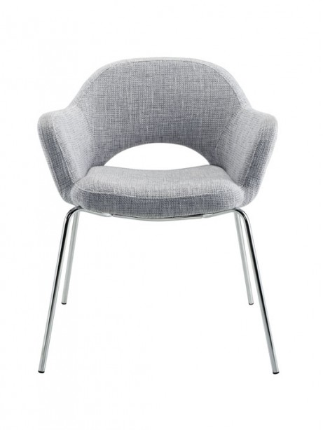 Light Gray Solid Armchair 2 461x614