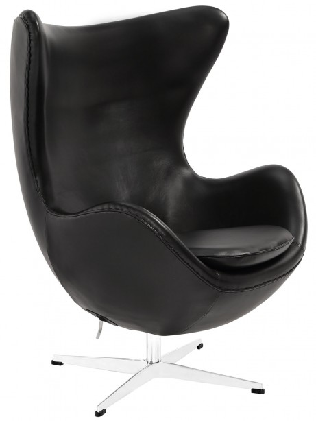 Magnum Black Leather Accent Chair 461x614