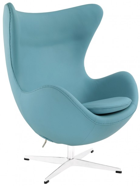 Magnum Light Blue Leather Accent Chair 2 461x614