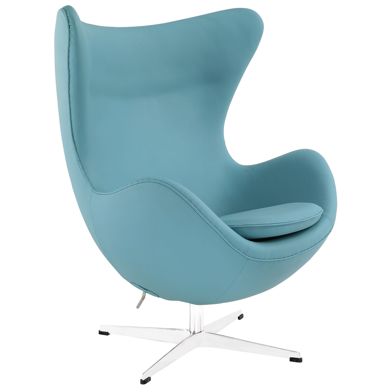 Magnum Light Blue Leather Accent Chair 2