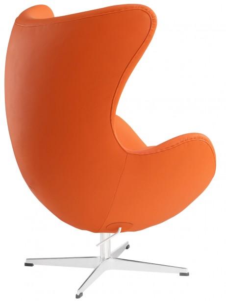 Magnum Orange Leather Accent Chair 3 461x614