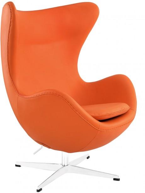 Magnum Orange Leather Accent Chair 461x614