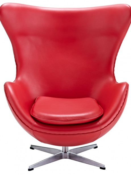 Magnum Red Leather Accent Chair 461x614