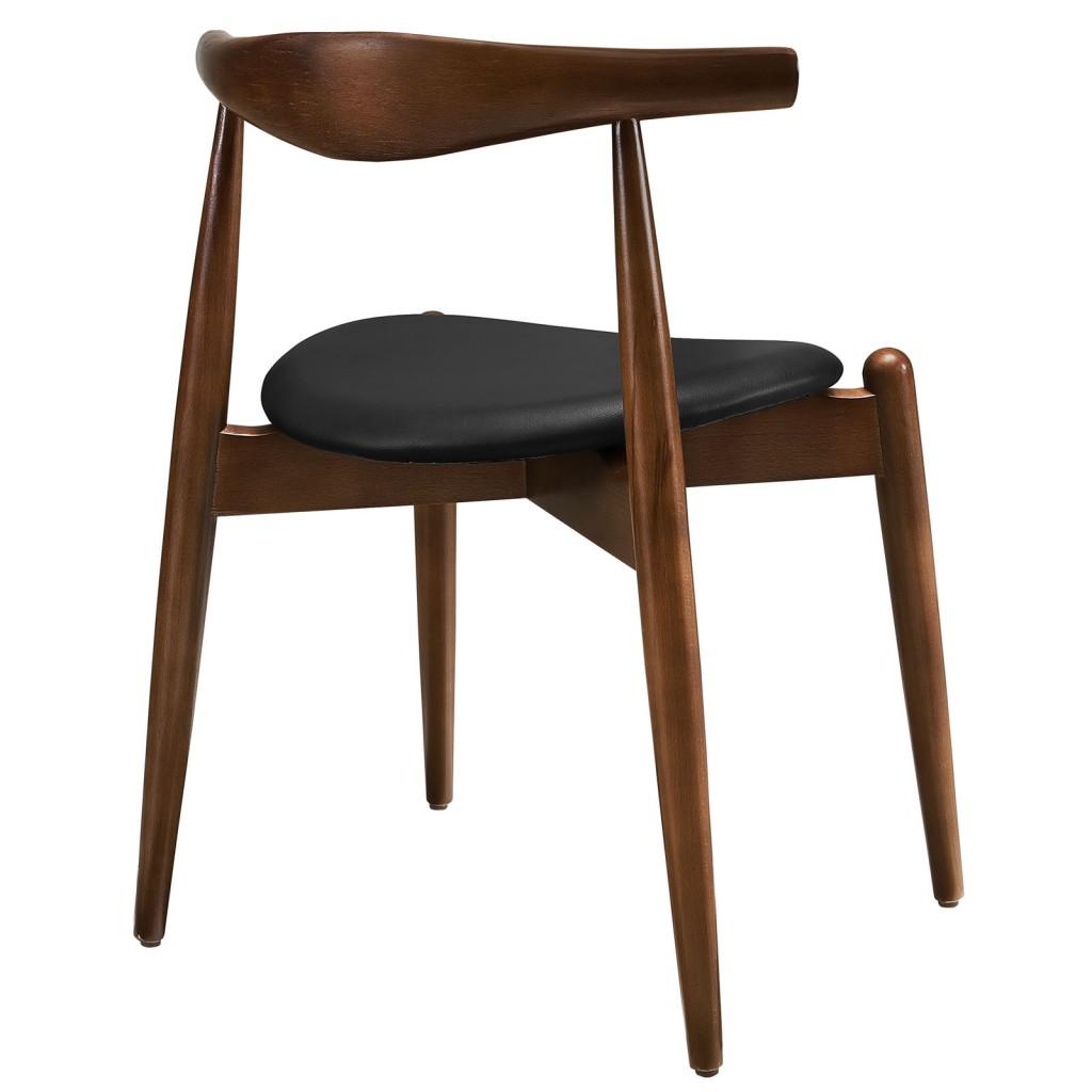 Marfa Chair Walnut Wood Black 2