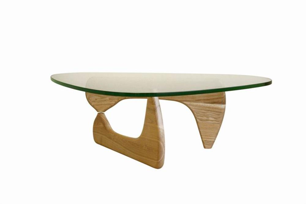 Natural Wood Triangle Coffee Table