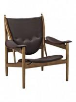 Noveau Armchair Brown Leather e1435230000187 156x207
