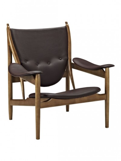 Noveau Armchair Brown Leather e1435230000187