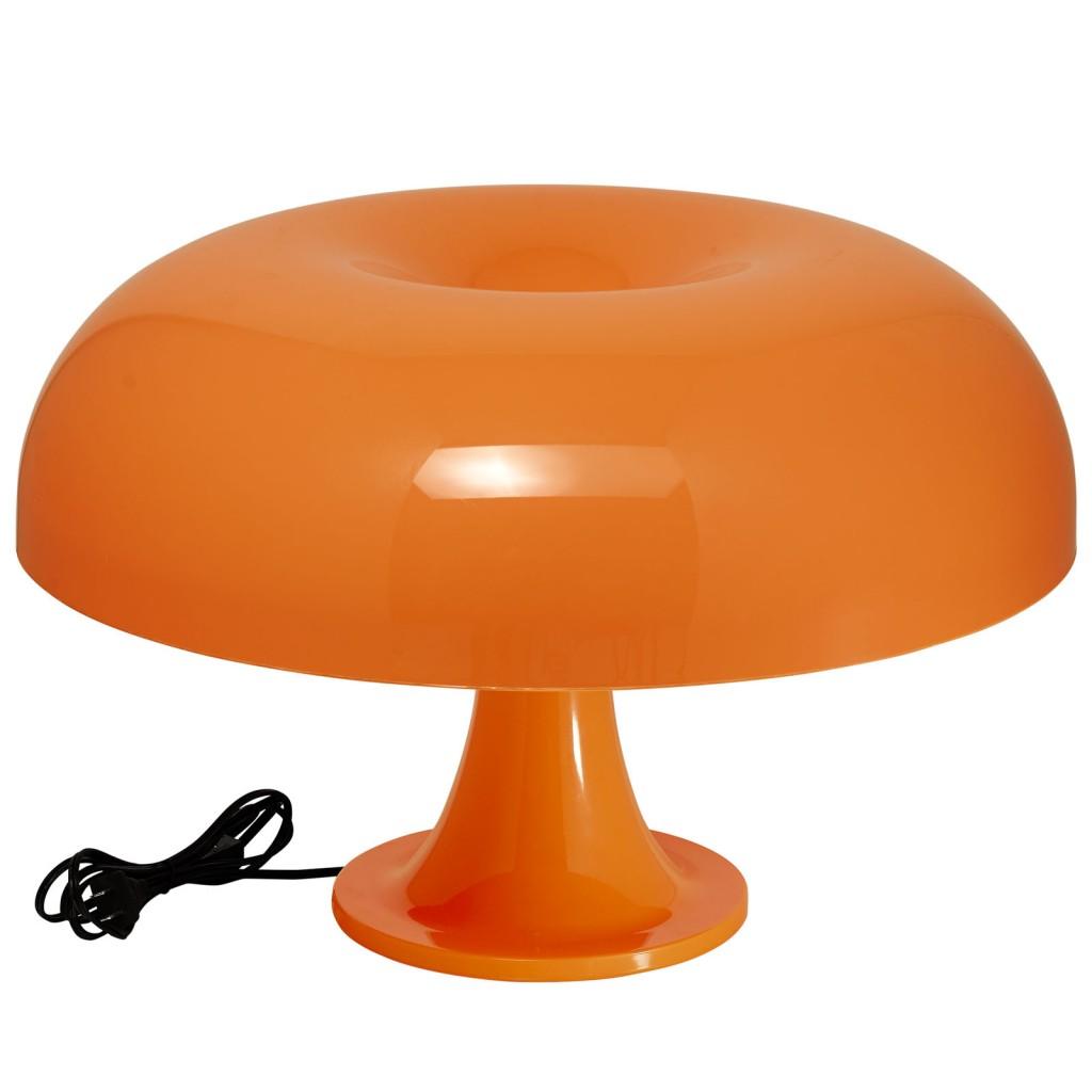 Orange Dome Table Lamp