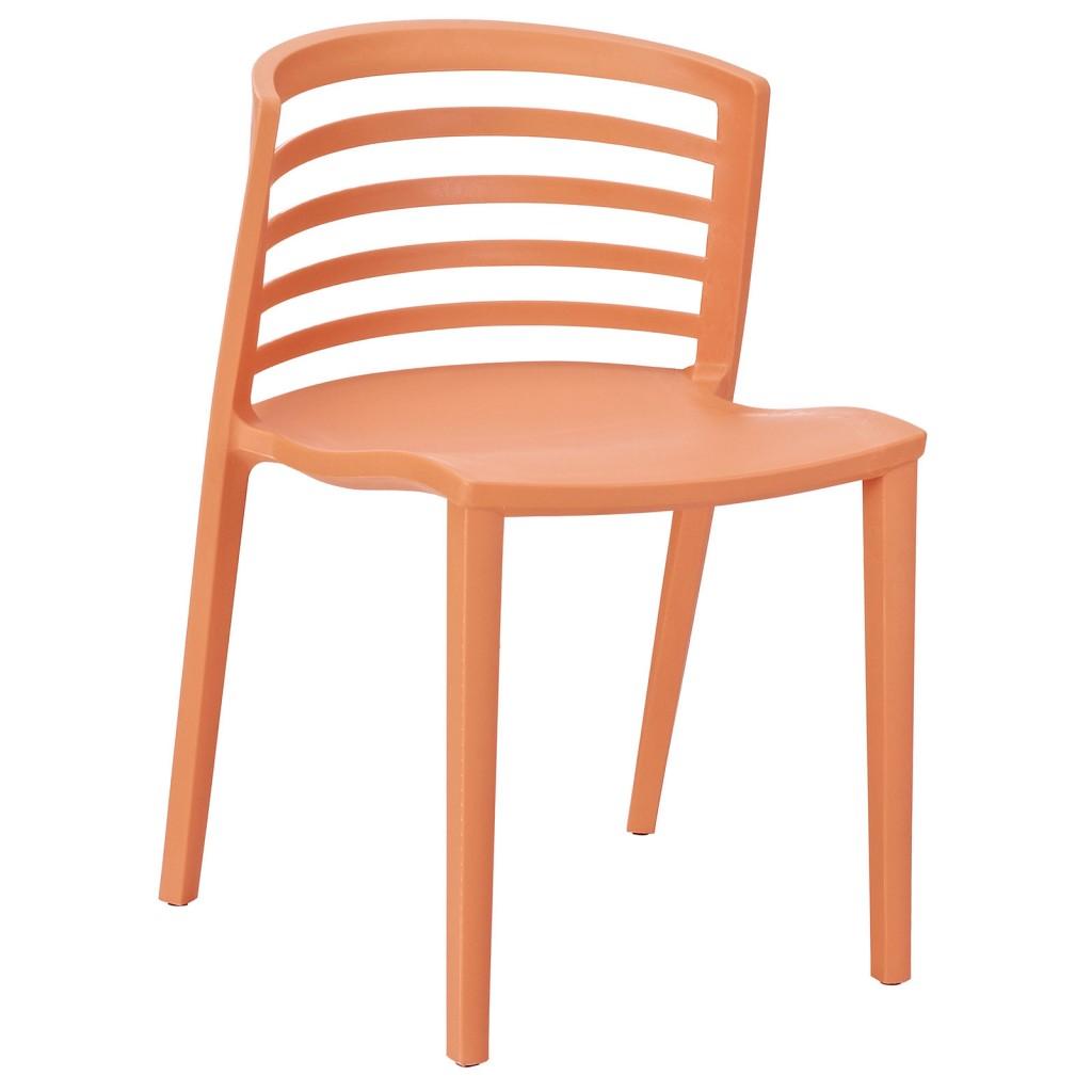 Orange Skeleton Chair 1