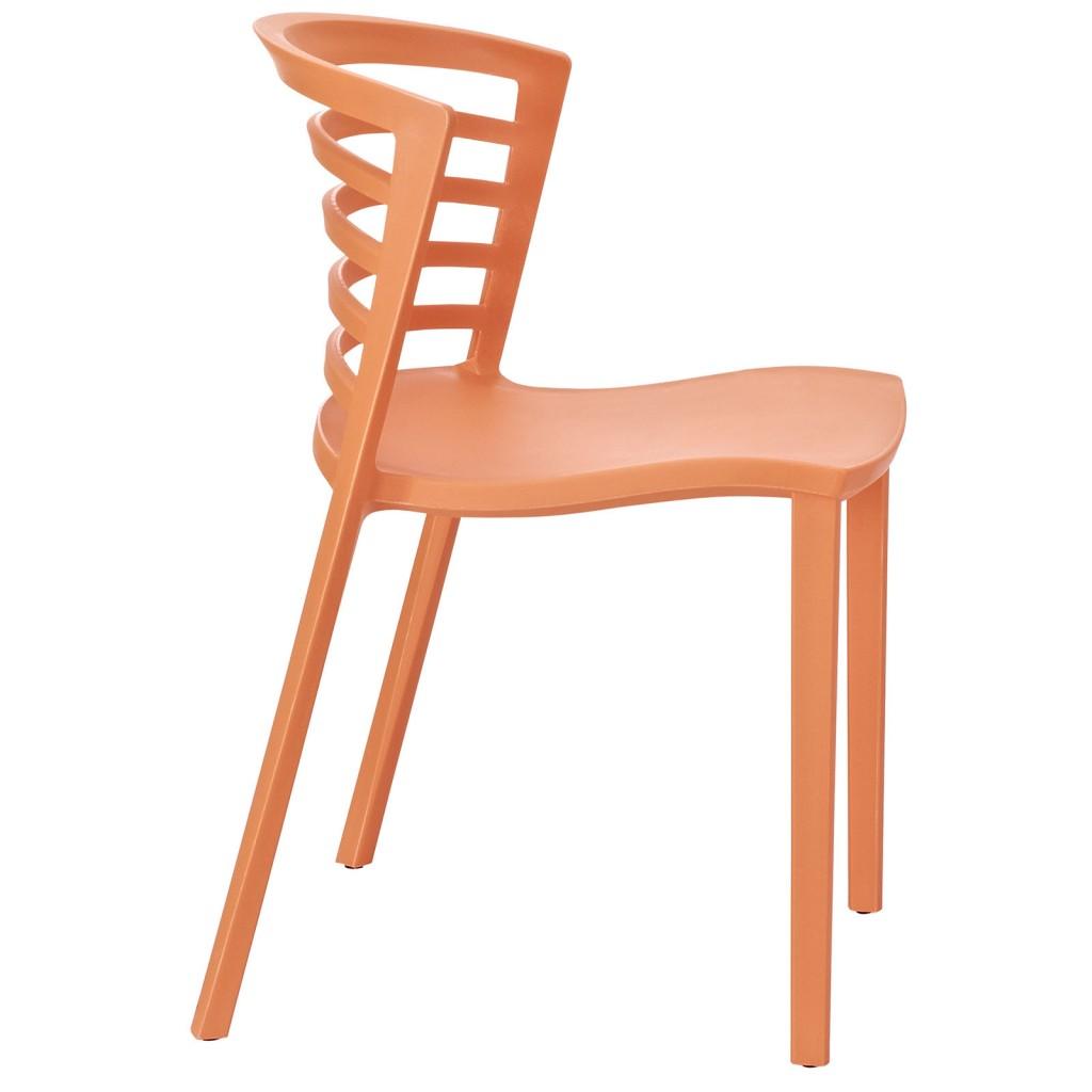 Orange Skeleton Chair 2